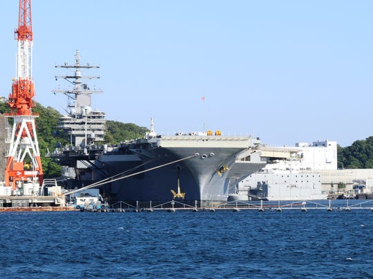 The USS Ronald Reagan is the US Navy's only forward deployed aircraft carrier. Its home port is Yokosuka, Japan home of the 7th Fleet.