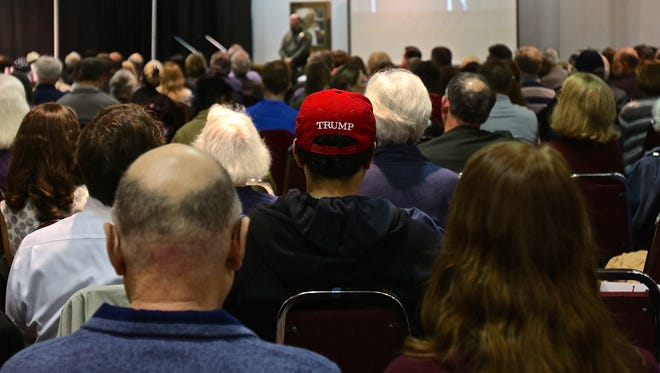 Roughly 1,000 people filled the  Holiday Inn Portland Airport ballroom for the 2018 Freedom Rally at the Holiday Inn Portland Airport ballroom on Saturday, Feb. 3, 2018.