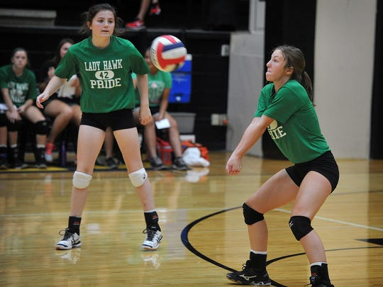 Iowa Park senior Brianna Payton and Madeline Stanford are two reasons the Lady Hawks believe they can challenge for a district title this season.