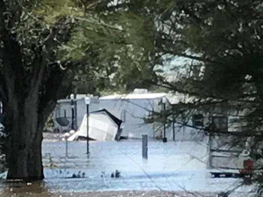 Flooding at the Wilde RV Resort along U.S. 41 in south
