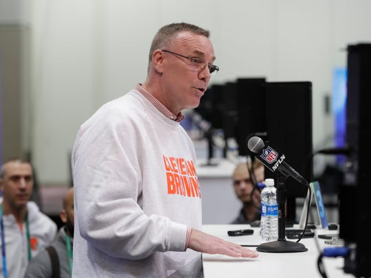 Cleveland Browns general manager John Dorsey controls the top of the NFL Draft.