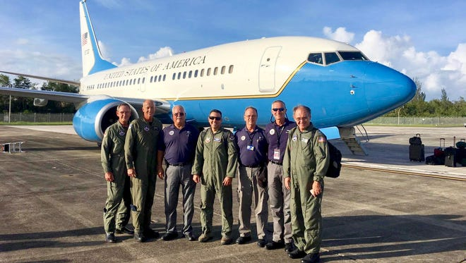 Members of the Southeast Region team traveled to Puerto Rico aboard an Air Force C-40 from Scott Air Force Base in Illinois that made a previously scheduled stop at Tyndall Air Force Base in Florida while enroute to San Juan.
