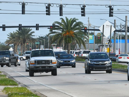 King Street (SR 520) in Cocoa. Texting while driving