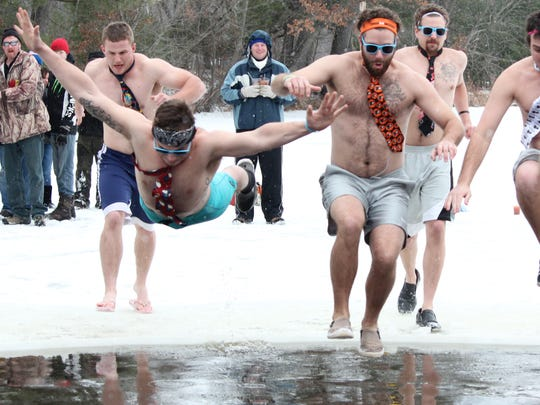 Rusty's Backwater Saloon hosted a 2015 polar plunge to celebrate the new year.