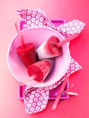 Cranberry Popsicles