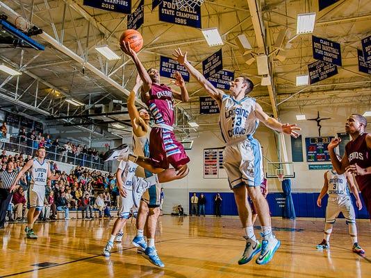 Okemos vs Lansing Catholic Boys Basketball