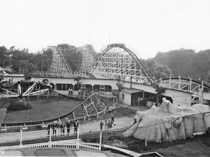 Broad Ripple Park amusement rides in 1931.