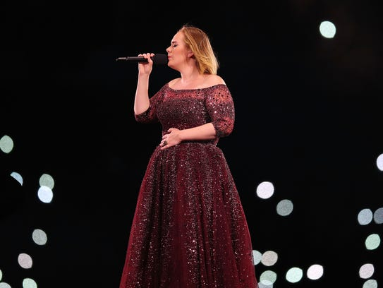 Adele performs at Etihad Stadium on March 18, 2017