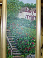 Shara Prindle's painting, Roscoe's Beauty, took second place in the Roscoe Village Member Day Canal Era Art Contest.