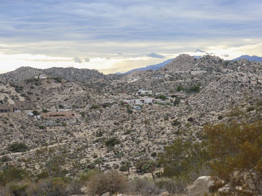 Large homes amongst the boulders in Yucca Valley, September 27, 2016.
