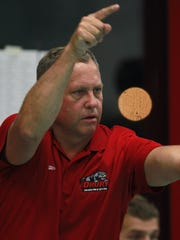 Drury swimming coach Brian Reynolds has led the men's team to 12 NCAA Division II national championships, and the women's team to 10 titles.