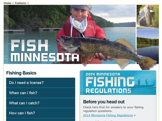 Dnr rolls out new fish minnesota website for Minnesota fishing regulations