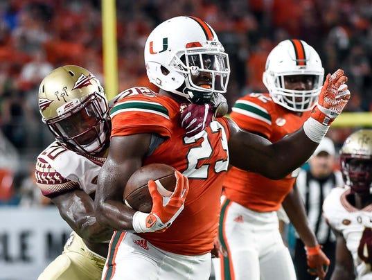 NCAA Football: Florida State at Miami
