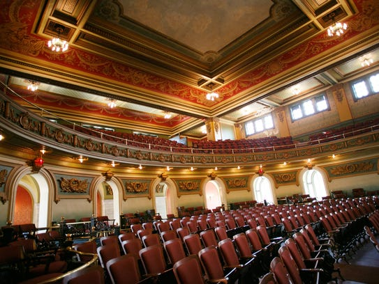 Inside Memorial Hall in Over-the-Rhine, the 108-year-old,