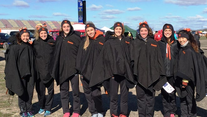 The Northville girls cross country team finished third in the MHSAA Division 1 finals Saturday at MIS.