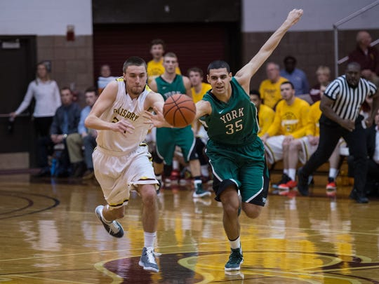 Salisbury's Justin Witmer (22) attempts to steal the