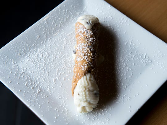 A cannoli from Stella Pizza in Collingswood.