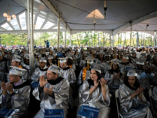 Graduates take their seats as Cumberland County College
