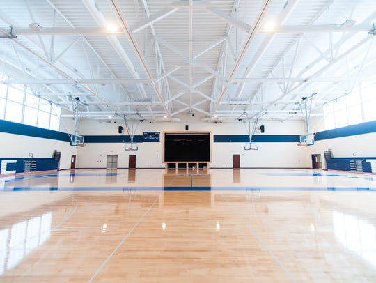 The gym of the new Cumberland County Technical Education