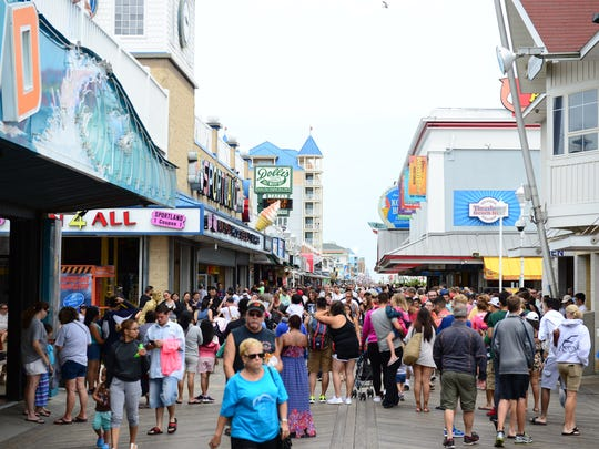 The Ocean City boardwalk was packed this Labor Day, Monday, Sept. 5, 2016.