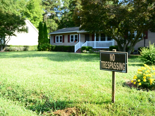 No trespassing signs have been placed at the residents