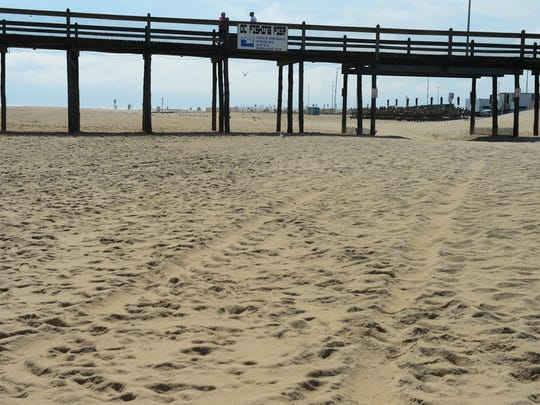 Ocean City uses beach replenishment which is a process of pumping sand up from the ocean floor and back under the feet of tourists and locals. This usually occurs after weather related beach events. Wednesday, Sept. 28, 2016