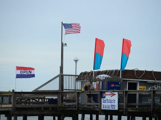 Ocean City thus far has missed any effects from Hurricane Matthew on Saturday, Oct. 8, 2016.