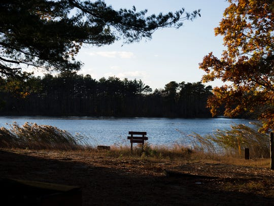 A view from the campground Friday in Franklinville.