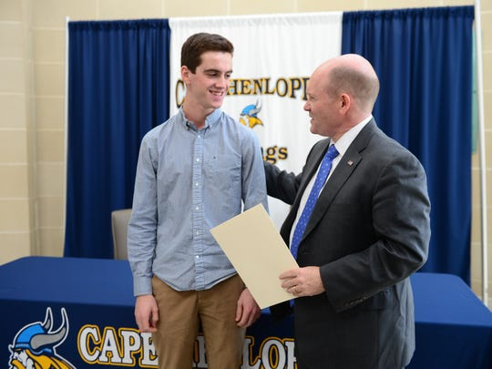 Cape Henlopen's David Collord was announced Thursday, Dec. 15, 2016, as Sen. Chris Coons' principal nomination to the United States Air Force Academy in Colorado Springs, Colo., in the fall of 2017.