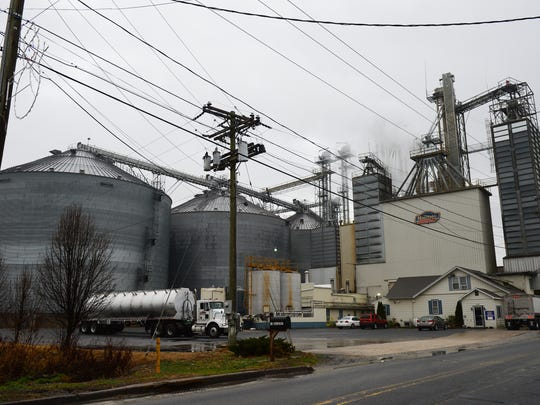 Mountaire Feed Mill is shown. Frankford's largest municipal water customer, it recently hired a well driller, who sought and received a state permit to dig a well for non-potable water.