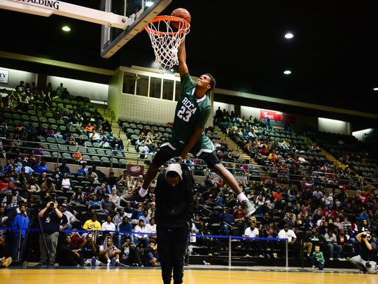 Rock Creek Charter's Ty'Darius Harris won the 2016 M&T Bank Slam Dunk Championship during the Governor's Challenge in 2016.