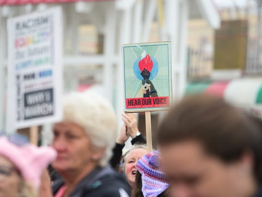 The Democratic Women's Club of Worcester County held a Women's March Sister March in Ocean City, Md. on Saturday, Jan 21, 2017. The 2018 march will be held on Sunday, Jan. 21.