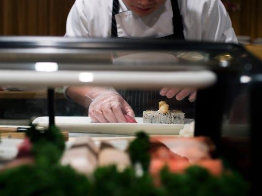 Sushi is prepared at Fuji in Haddonfield.