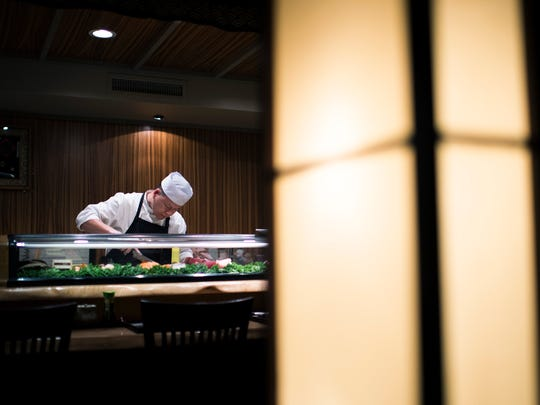 Owner and chef Chen Zheng prepares sushi inside Fuji Wednesday, Jan. 25 in Haddonfield.