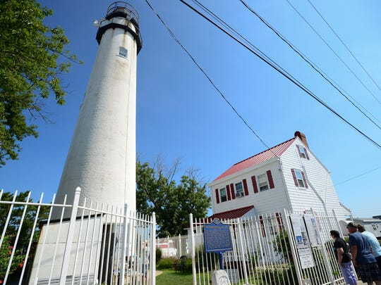 The Fenwick Island Lighthouse. Developers in 19th century believed that the high ground around the lighthouse was the ideal spot for the establishment of a seaside resort.
