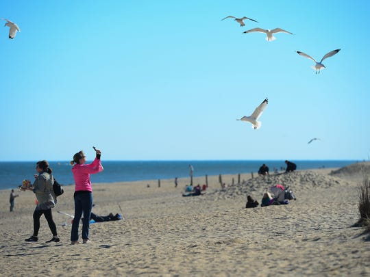 Rehoboth Beach and the boardwalk was filled during President's Day Weekend thanks to sunshine and warm temperatures.