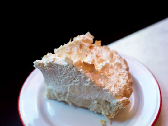 A slice of coconut cream pie from Rooster Soup Company in Philadelphia.