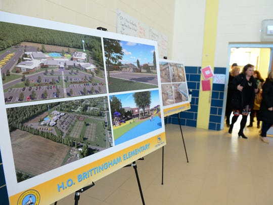 Renderings for the new H.O. Brittingham Elementary School.