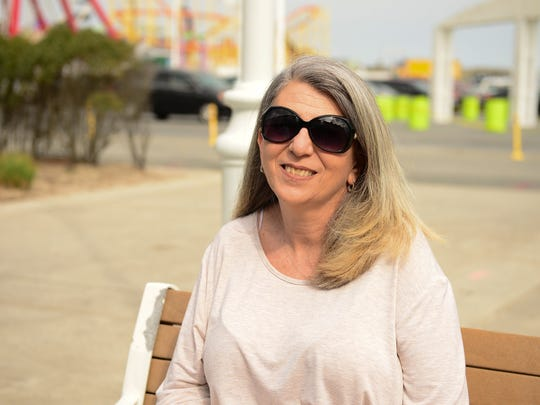 Ann Smith, of Brooklyn, New York on the Ocean City boardwalk on Thursday, April 13, 2017.
