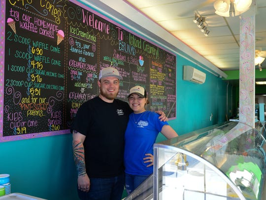 Co-owners Drew Conklin and Jennifer Sorrell have opened a new Island Creamery location in Berlin, Md.