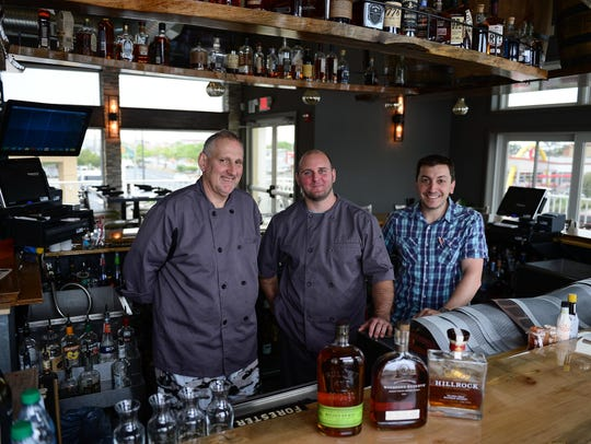 Joel Blice, Chef Stuart Diepold and Owner Sal Fasano