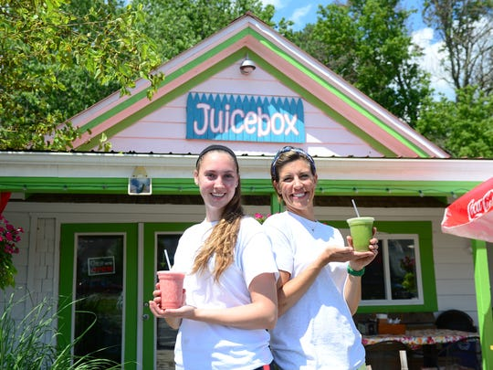 Lisa Daisey-DiFebo alongside Hannah Gentry outside the Juicebox located in Ocean View on Wednesday, June 21, 2017.