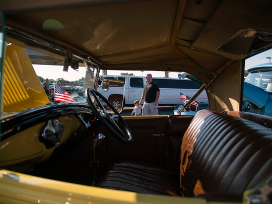 Classic cars are lined up for National Night Out Tuesday,