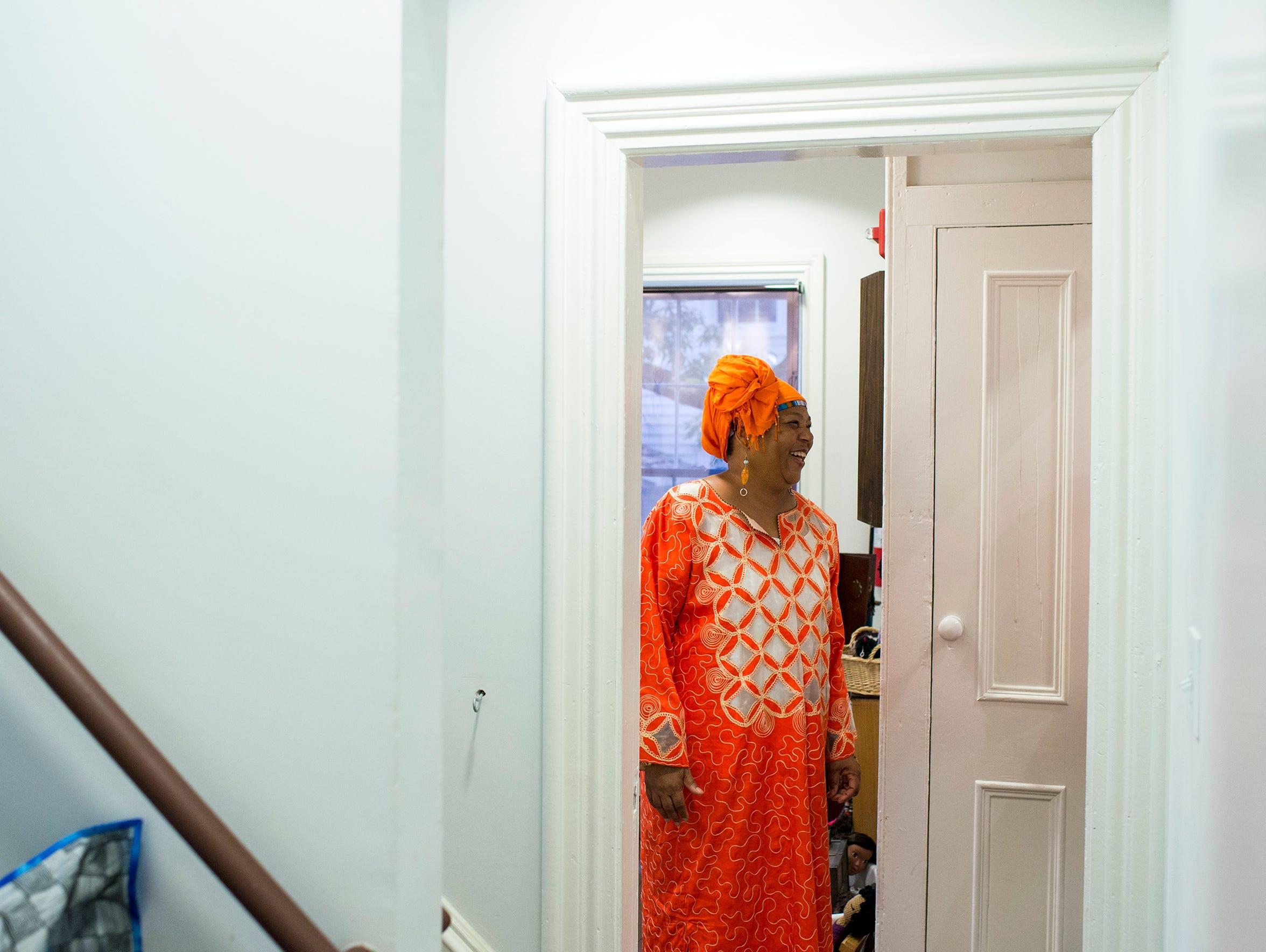 Karen 'Queen Nur' Abdul-Malik is shown inside her Dolls