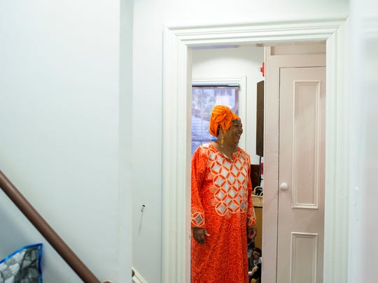 Karen 'Queen Nur' Abdul-Malik is shown inside her Dolls of Distinction Exhibition at the Smithville Mansion in Eastampton recently. Abdul-Malik is a resident of Willingboro and is an international storyteller, who is also the director of the Folklife Center at Perkins Center for the Arts.