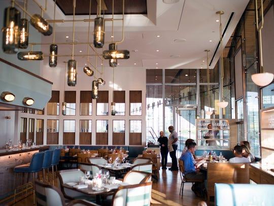 The dining area inside Walnut Street Cafe in Philadelphia.