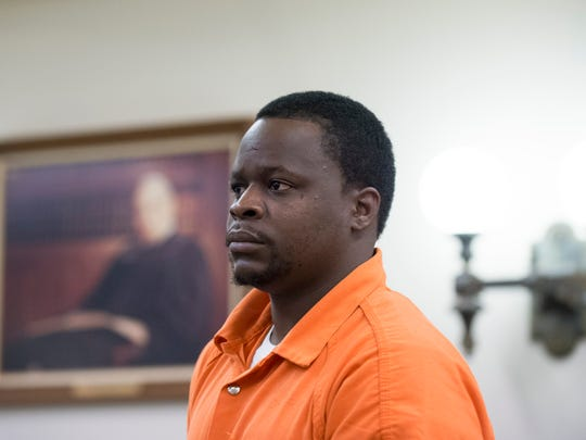 Donald Scurry Jr. in Cumberland County Superior Court for a hearing Wednesday, Oct. 11, 2017 in Bridgeton.