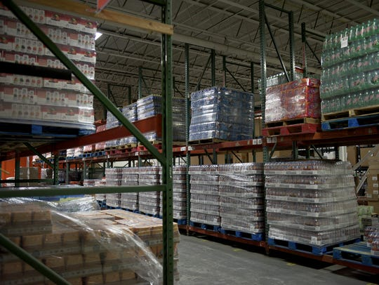 The storage area inside the Food Bank of South Jersey