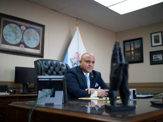 Camden Mayor Frank Moran at his City Hall office Tuesday, Jan. 9, 2018 in Camden, N.J.