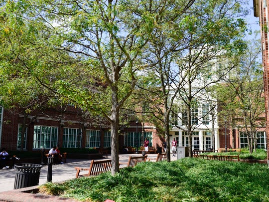 A view of the UMES campus outside the Student Service